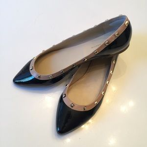 BCBGeneration black pointy toe Flats with studs